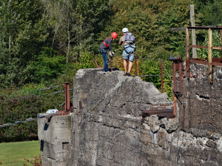 Klettersteig für Anfänger mit dem DAV im Landschaftspark