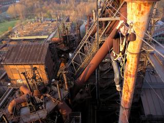 Hochseilparcours im Landschaftspark - Expedition Stahl