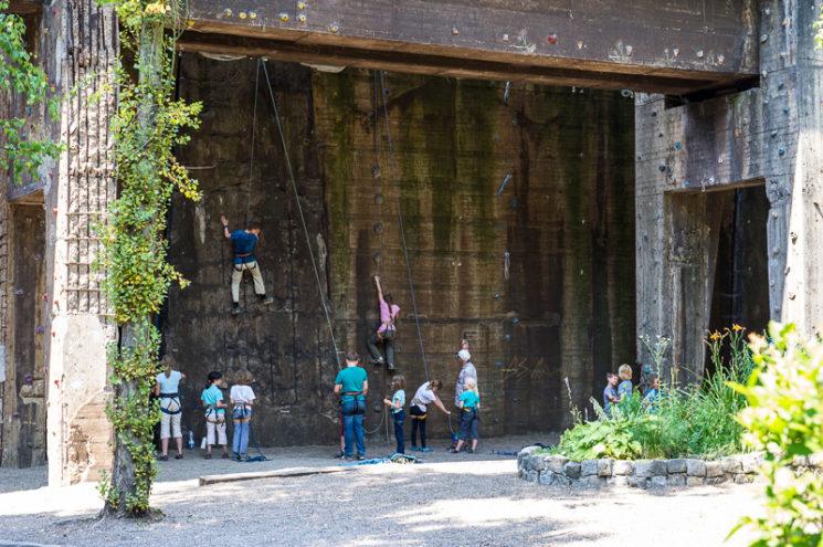 Kletterkurs Schnupperlettern DAV im Landschaftspark