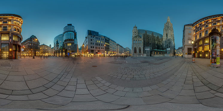 Nächtliches Panorama vom Stephansplatz, © Thomas Bredenfeld