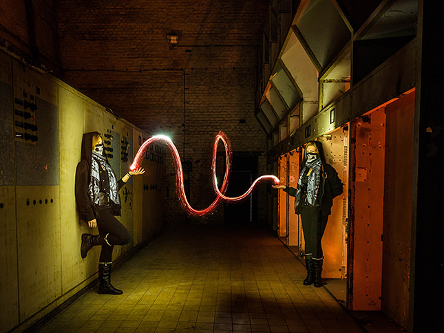 Lightpainting mit Model, © ZOLAQ